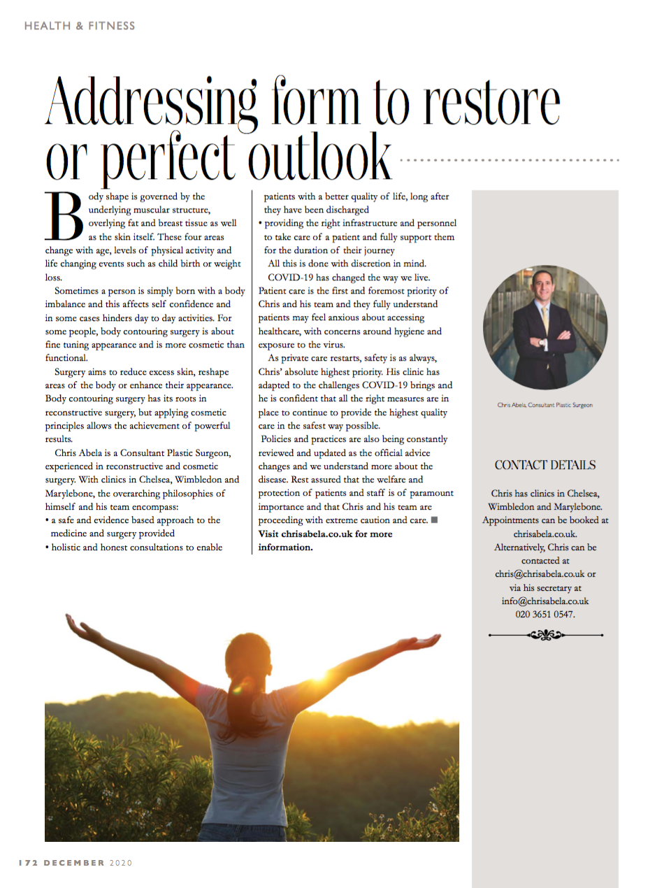 Addressing form to restore or perfect outlook
